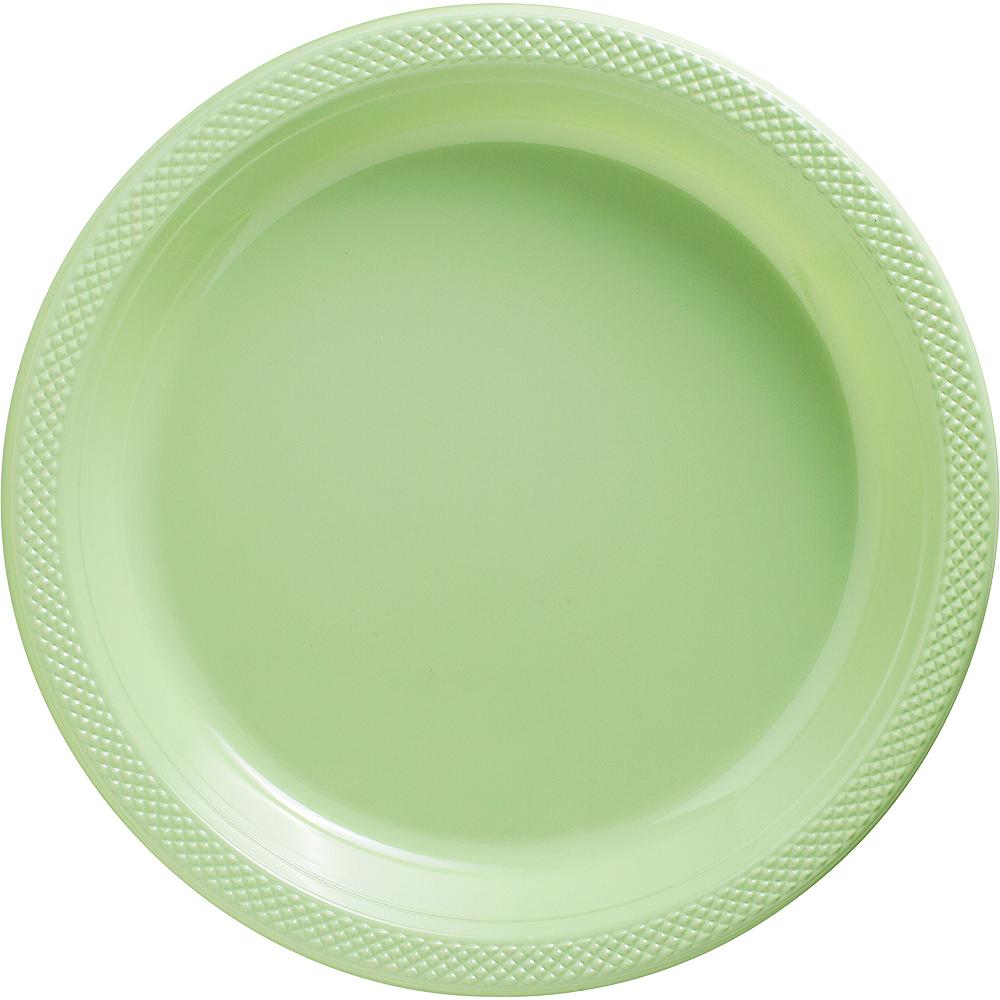 Leaf Green Plastic Dinner Plates 20ct Image #1