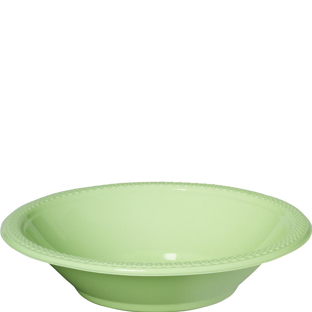 Leaf Green Plastic Bowls 20ct Image #1