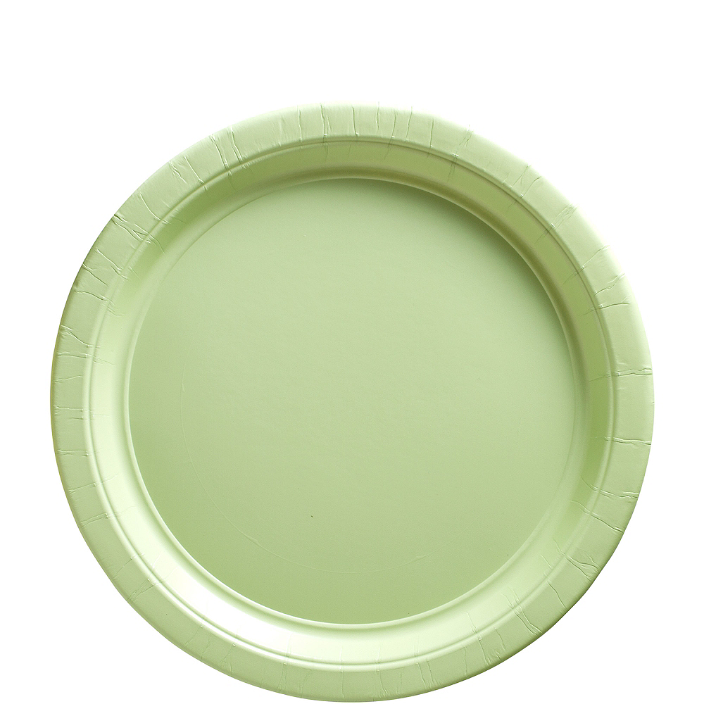 Leaf Green Paper Lunch Plates 20ct Image #1
