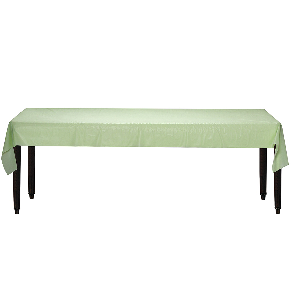 Leaf Green Plastic Table Cover Roll Image #2