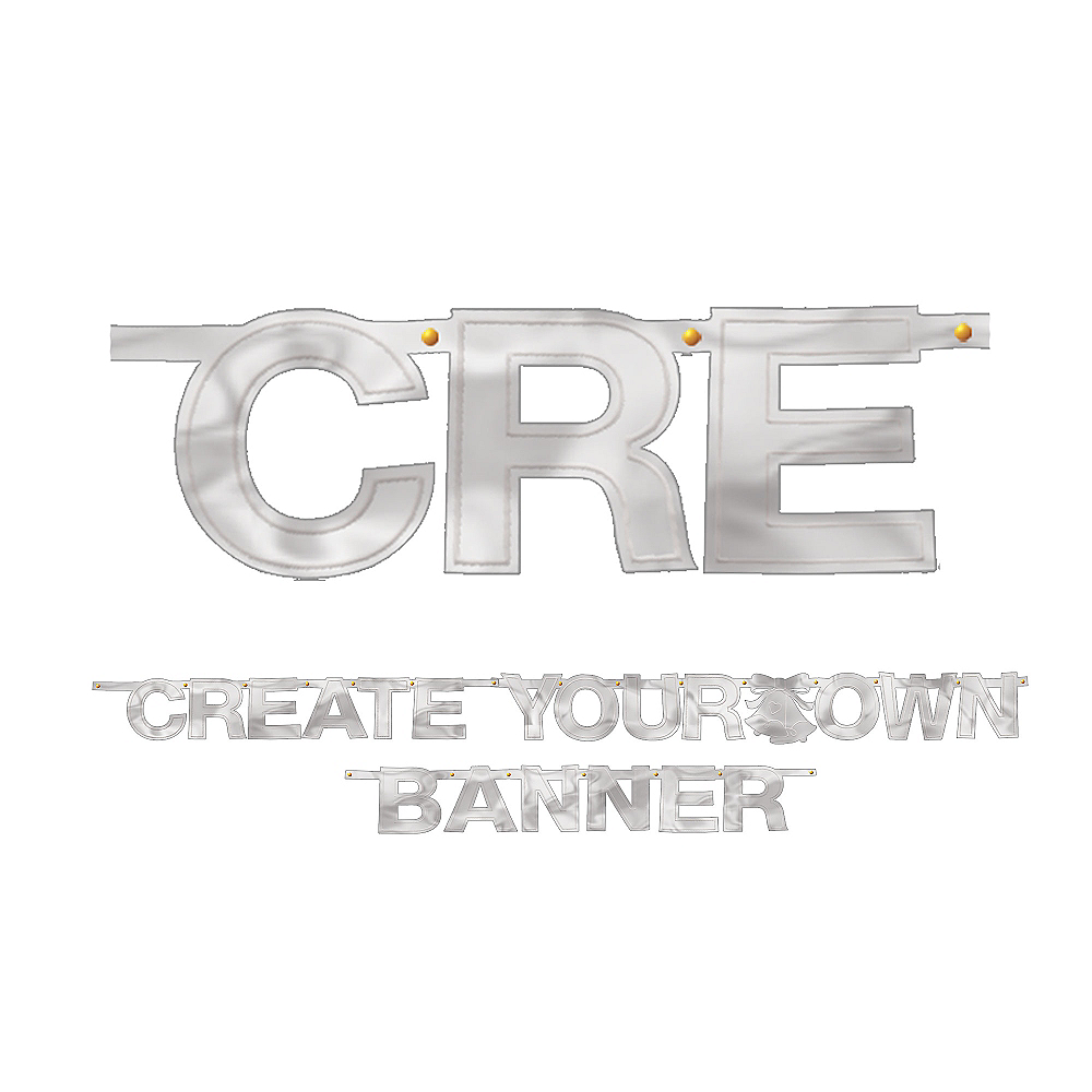 Create Your Own Banner Silver Party City