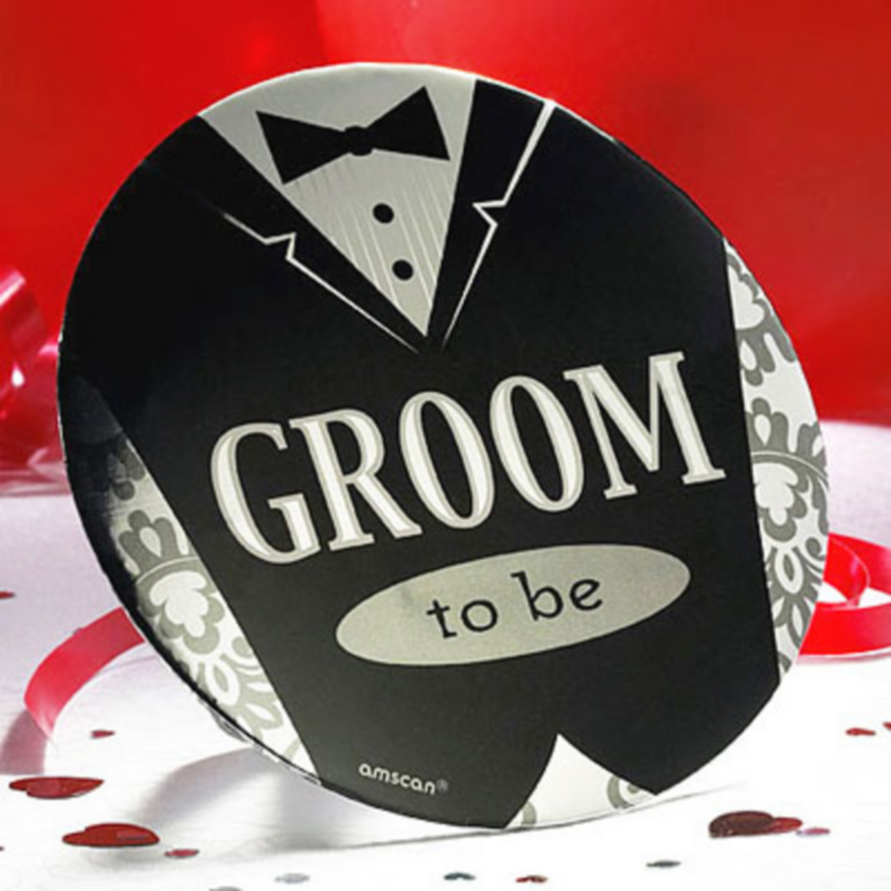 Groom-to-Be Button Image #1