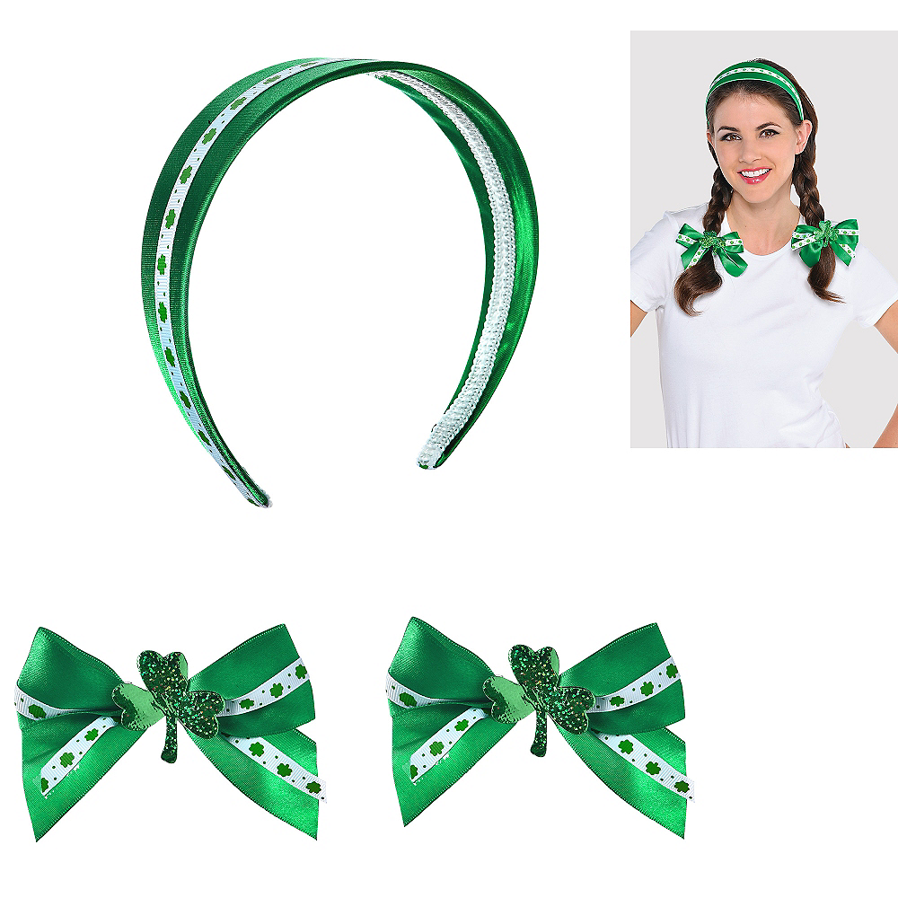 St. Patrick's Day Hair Accessory Set 3pc Image #1