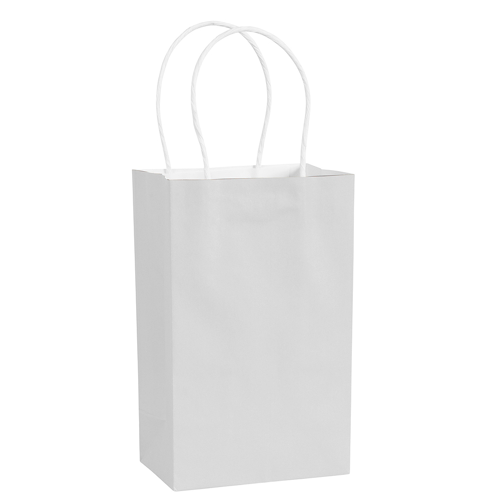 Small White Paper Gift Bag Image #1