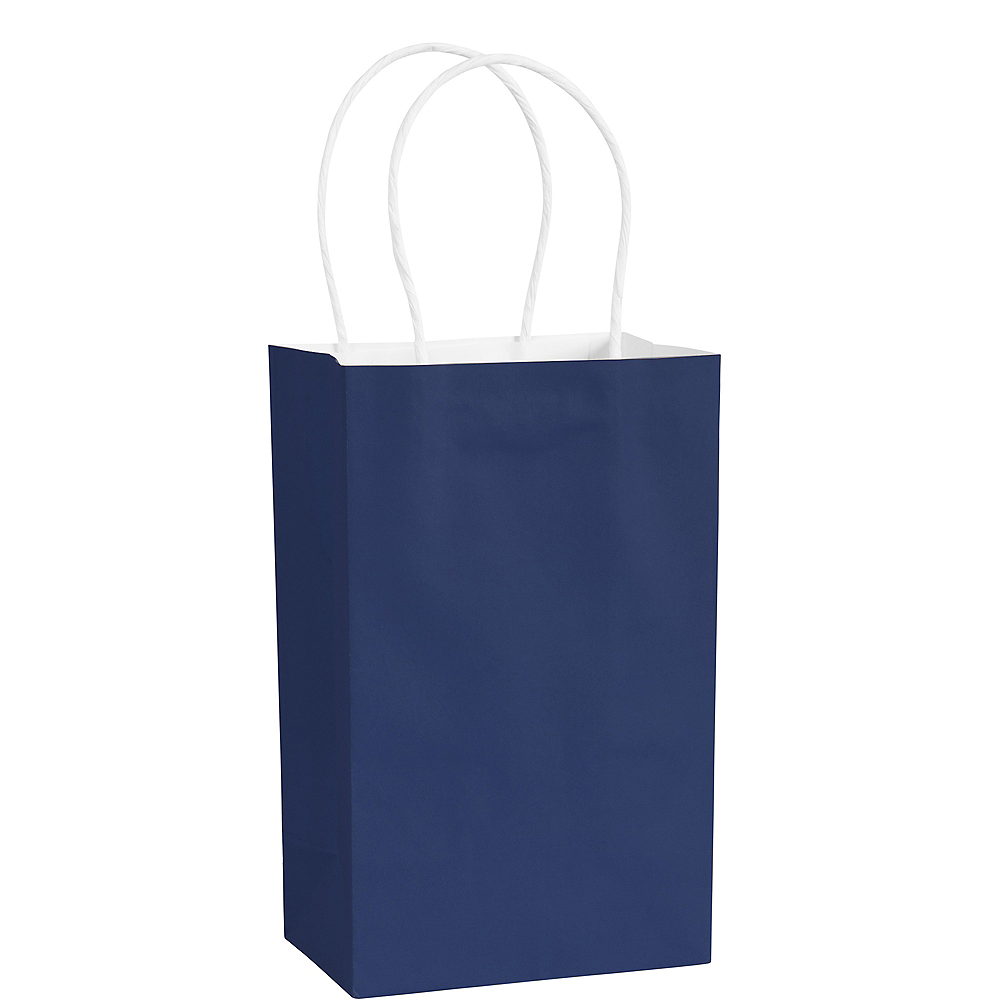 Small Royal Blue Paper Gift Bag Image #1