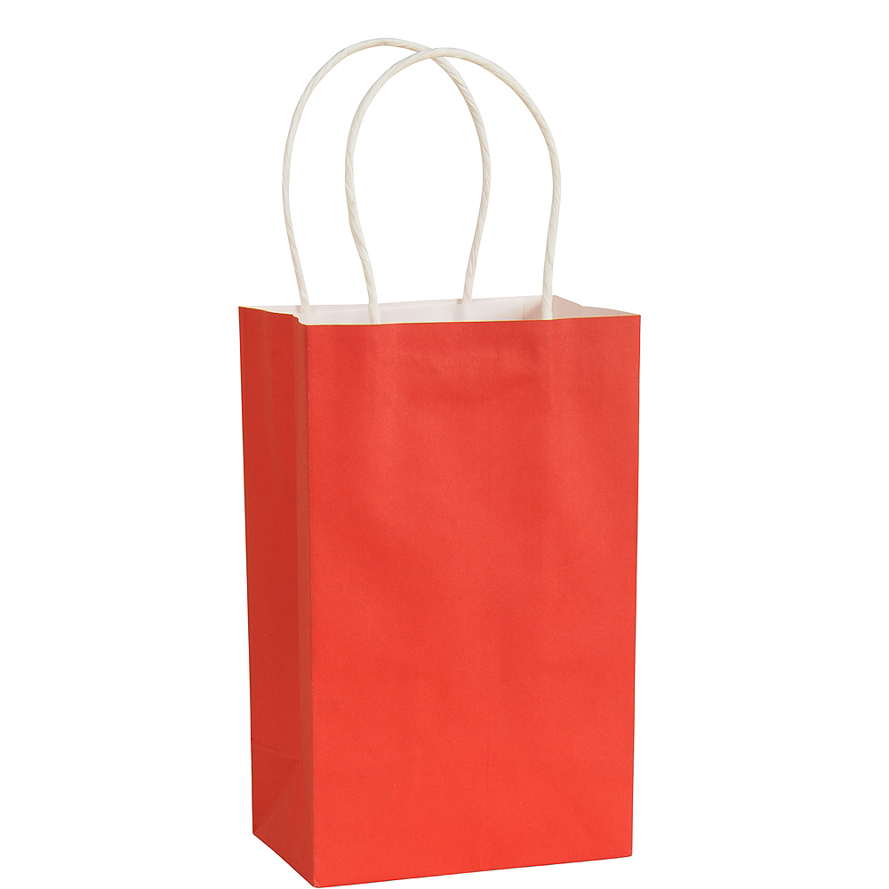 Small Red Paper Gift Bag 5 1/4in x 8 1