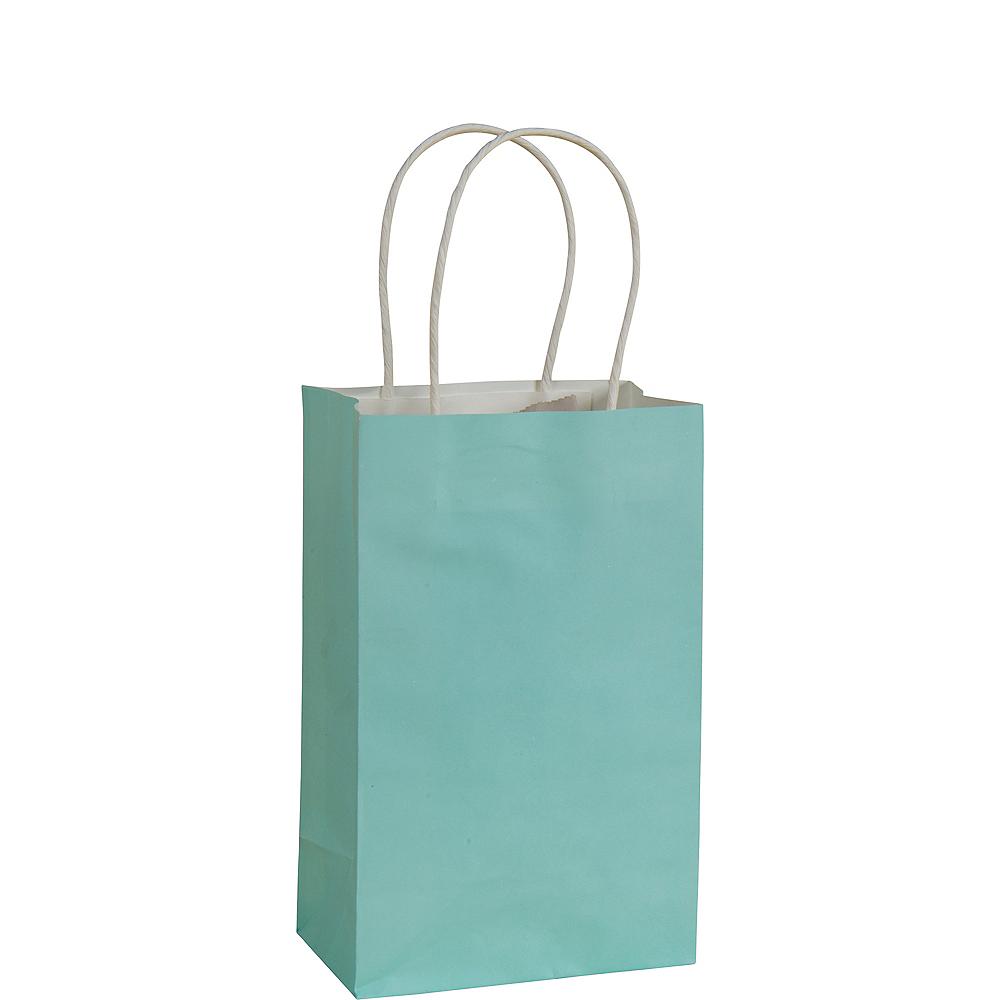 Small Robin's Egg Blue Paper Gift Bag Image #1