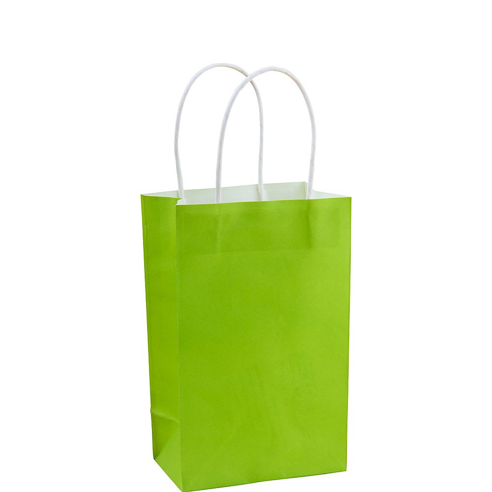 Small Kiwi Green Paper Gift Bag Image #1