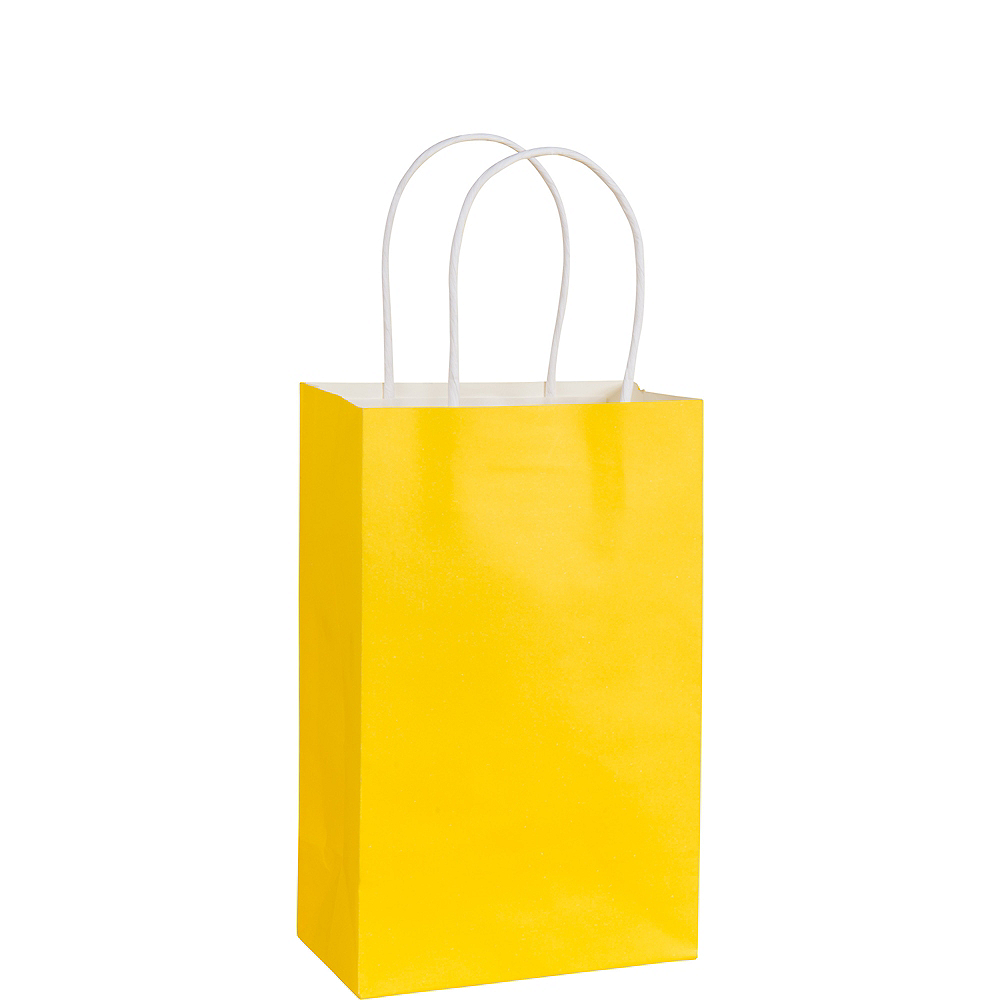 Small Yellow Paper Gift Bag Image #1
