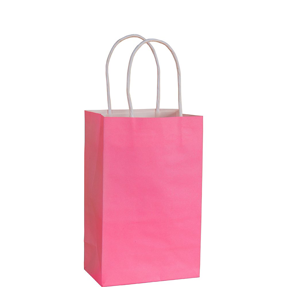 Small Bright Pink Paper Gift Bag Image #1