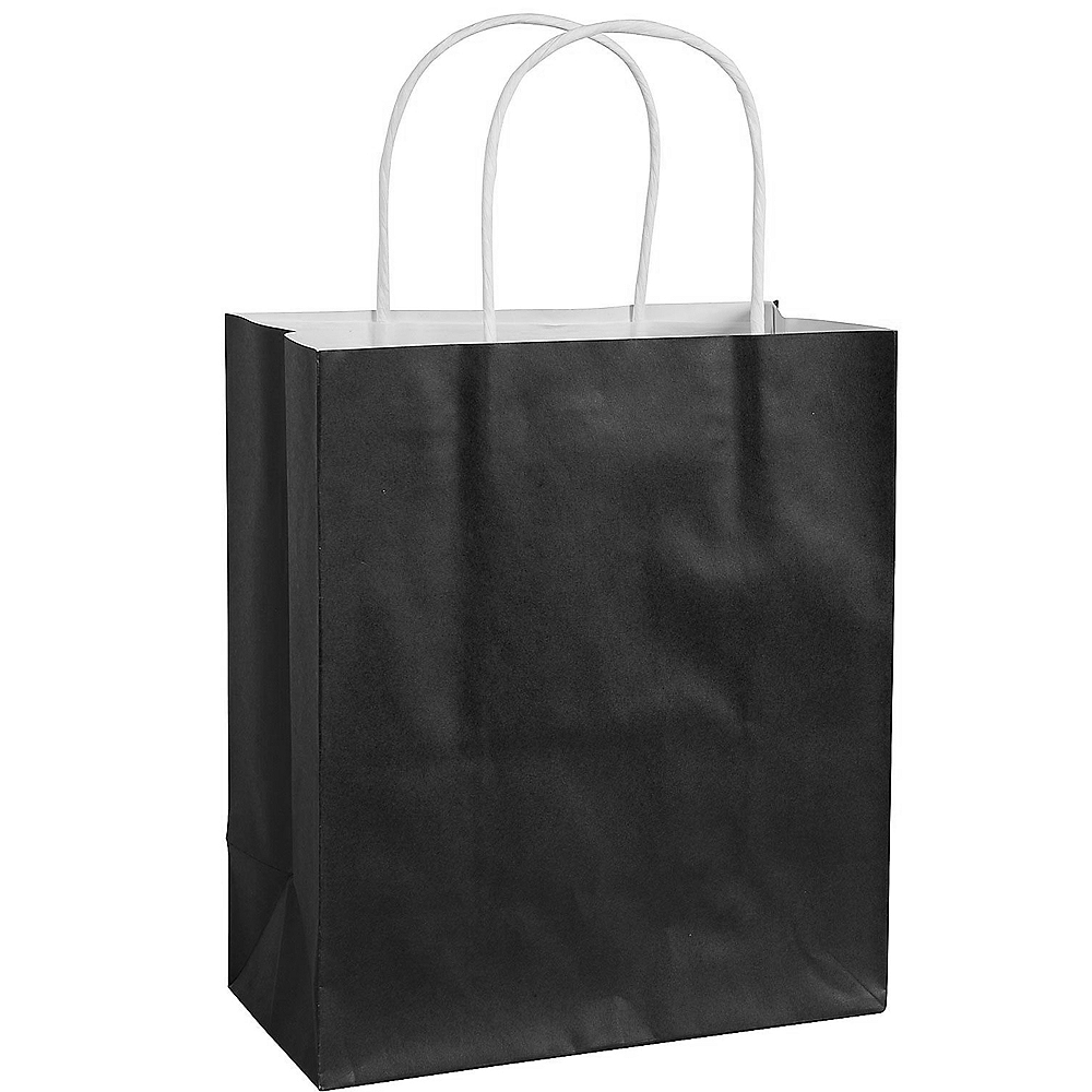Medium Black Paper Gift Bag Image #1