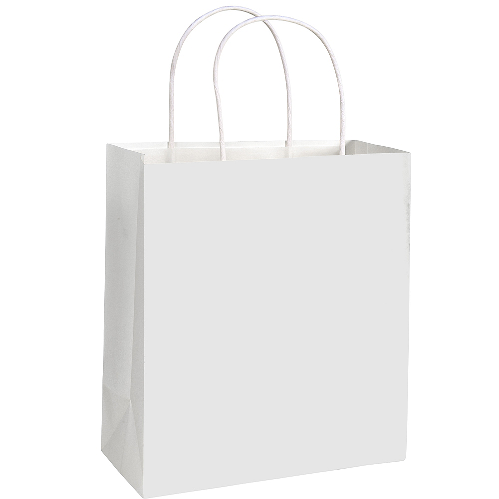 Medium White Paper Gift Bag Image #1