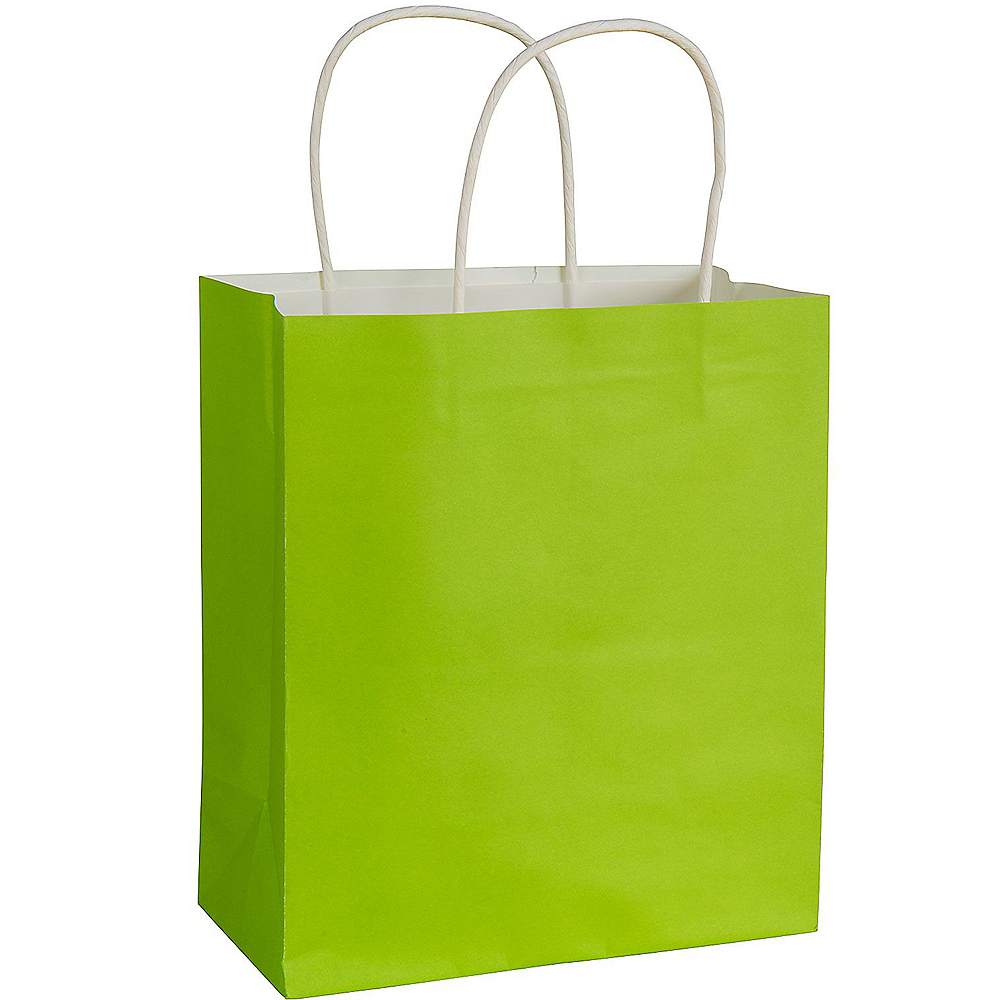 Medium Kiwi Green Paper Gift Bag Image #1