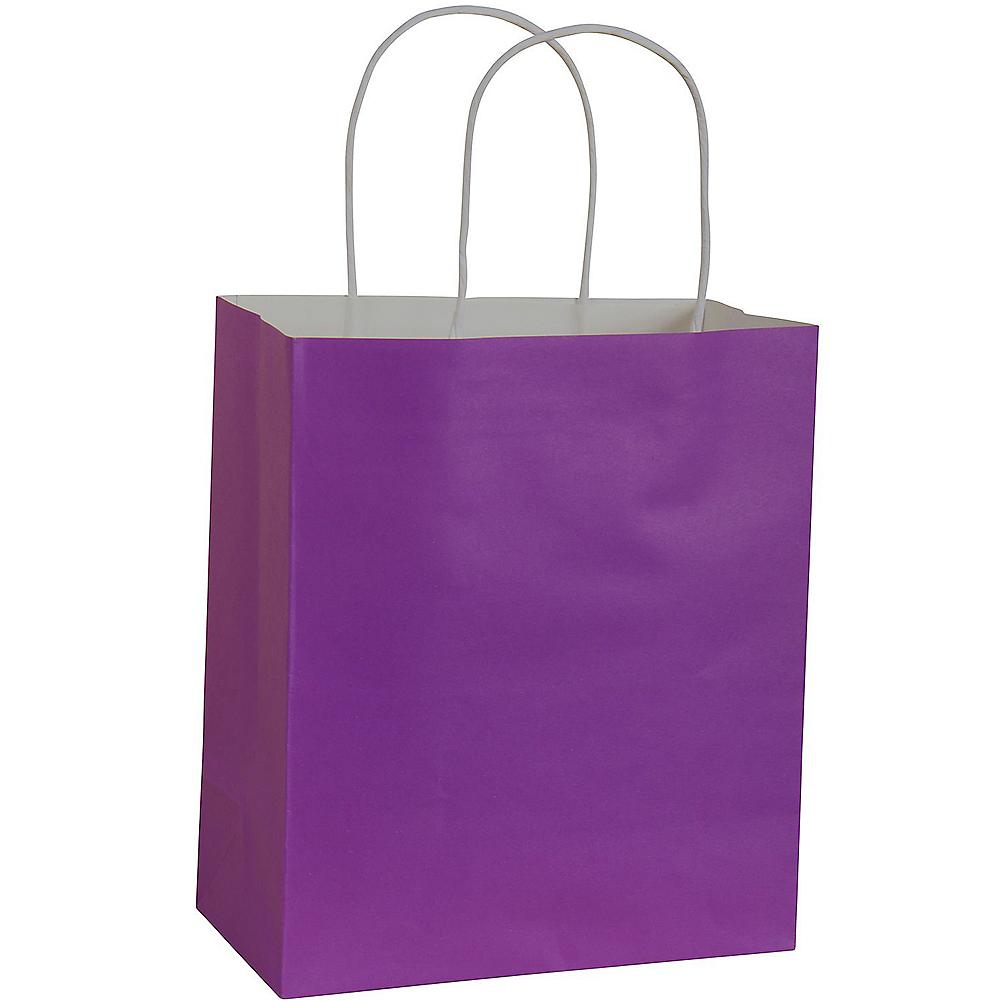 Medium Purple Paper Gift Bag Image #1