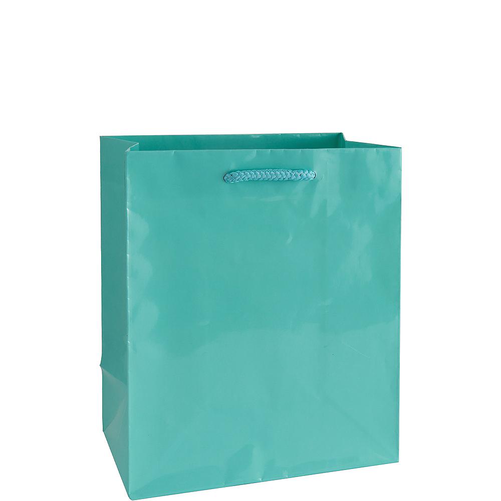 Medium Glossy Robin's Egg Blue Gift Bag Image #1