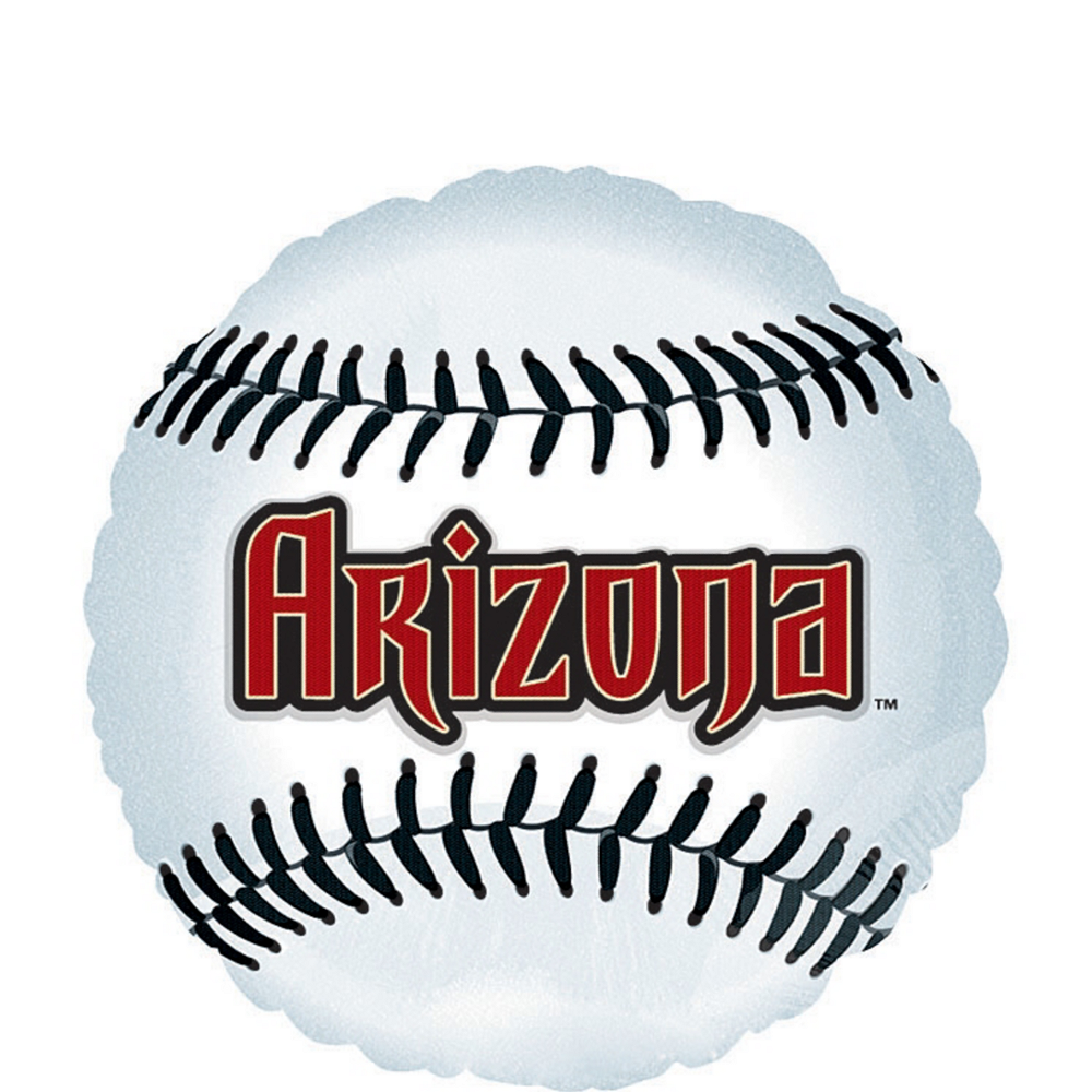 Arizona Diamondbacks Baseball Balloon 18in Image #1