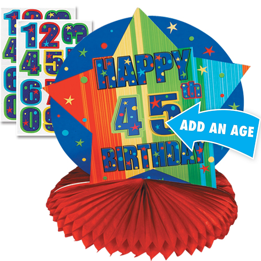 Celebrate Personalized Honeycomb Centerpiece 10in Image #1