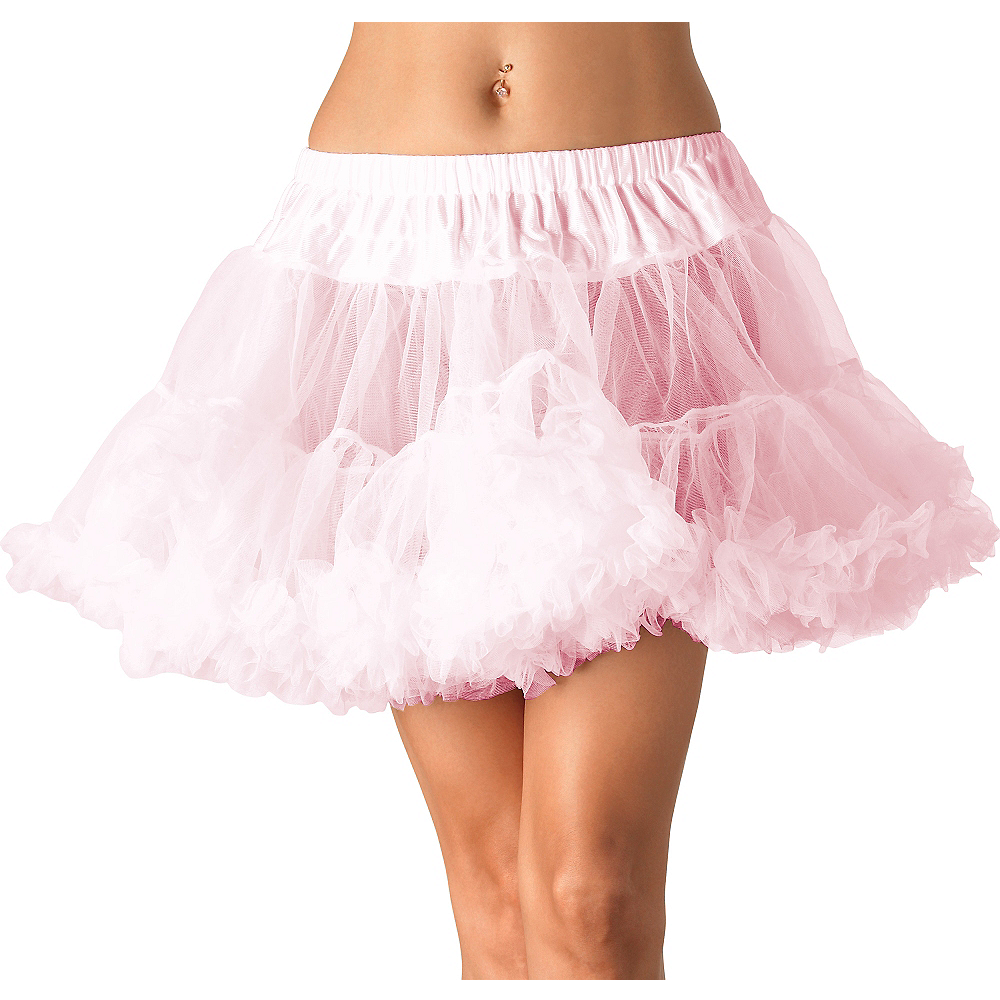 Nav Item for Adult Light Pink Tulle Petticoat Image #1