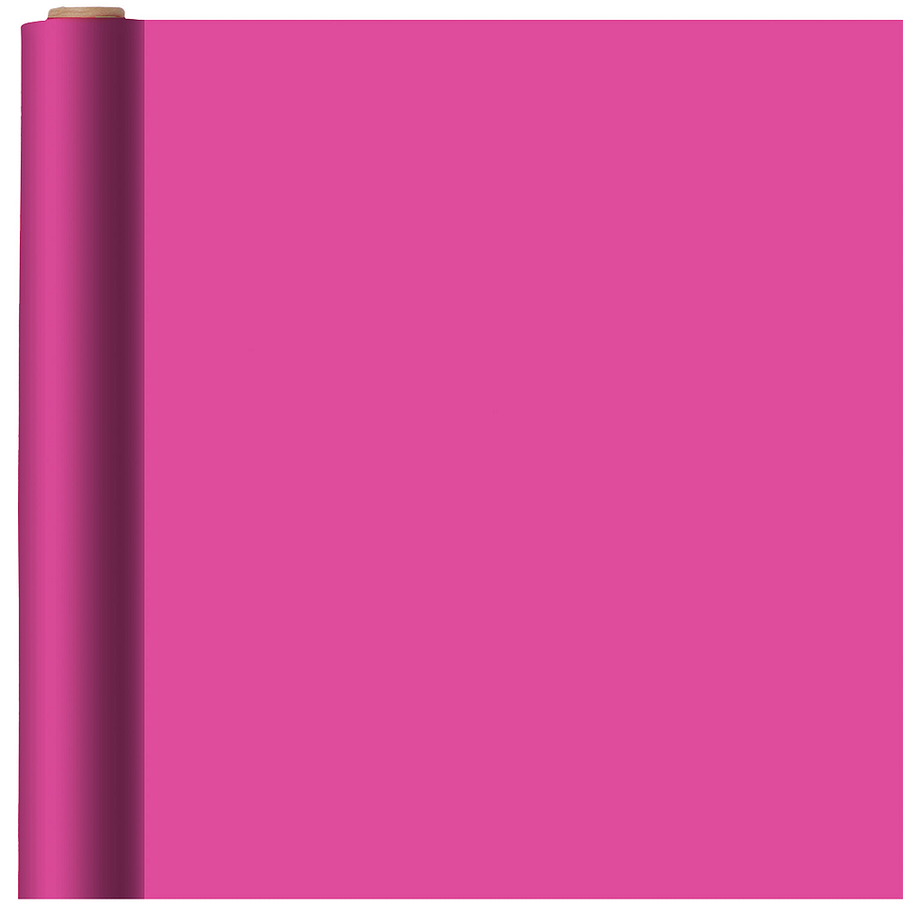 Solid Bright Pink Gift Wrap Image #1