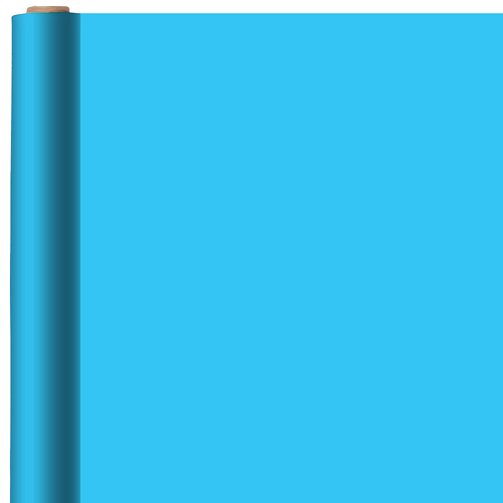 Solid Caribbean Blue Gift Wrap Image #1