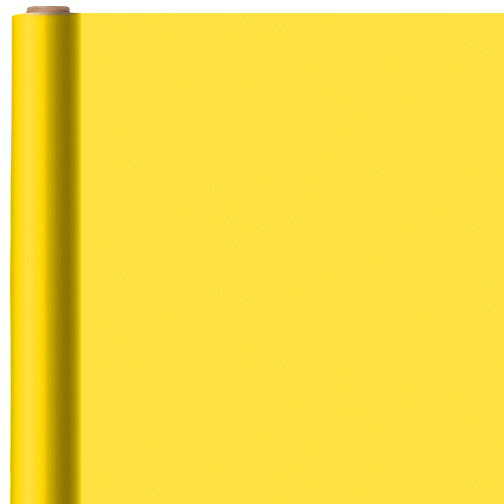 Nav Item for Solid Sunshine Yellow Gift Wrap Image #1