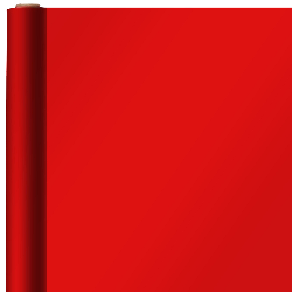 Solid Bright Red Gift Wrap Image #1