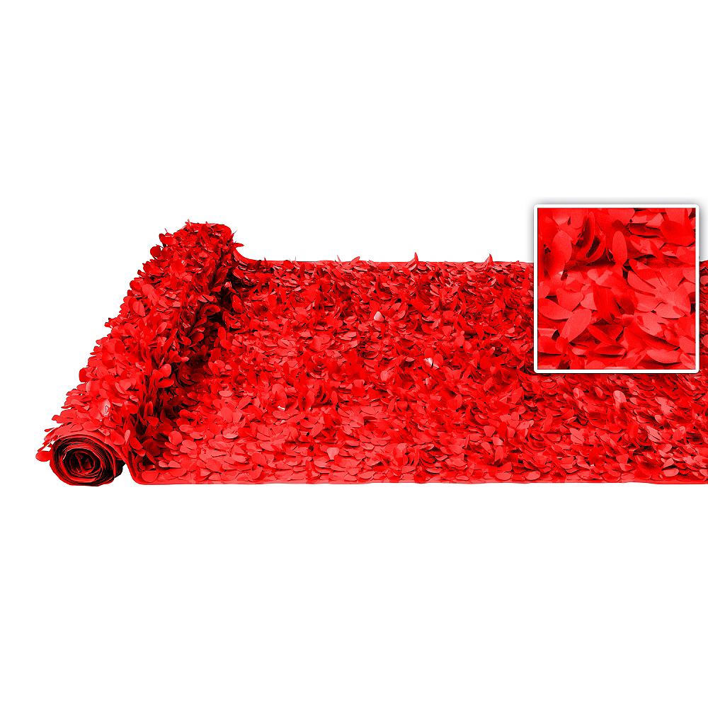 Red Vinyl Floral Sheeting Image #1
