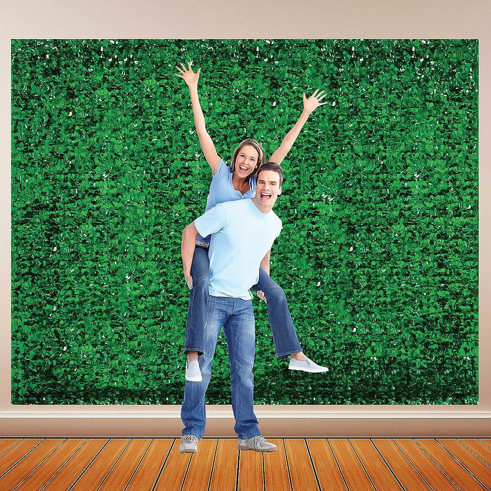 Festive Green Metallic Floral Sheeting Image #1