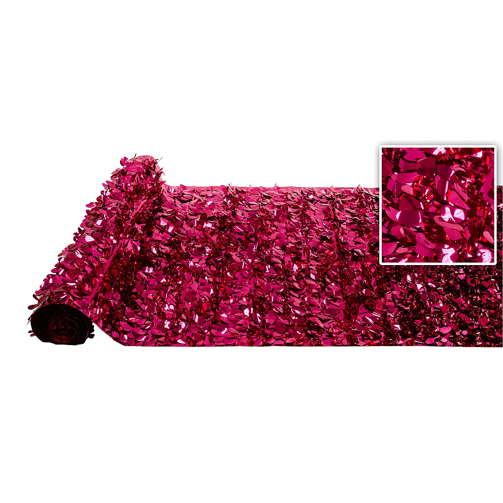 Nav Item for Bright Pink Metallic Floral Sheeting Image #1