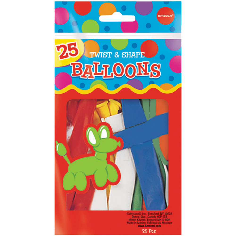 Animal Twist & Shape Balloons 25ct Image #1