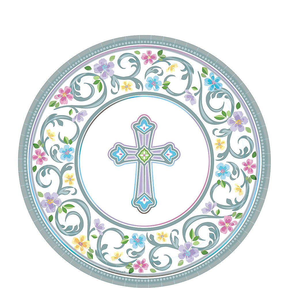 Nav Item for Blessed Day Religious Dessert Plates 18ct Image #1