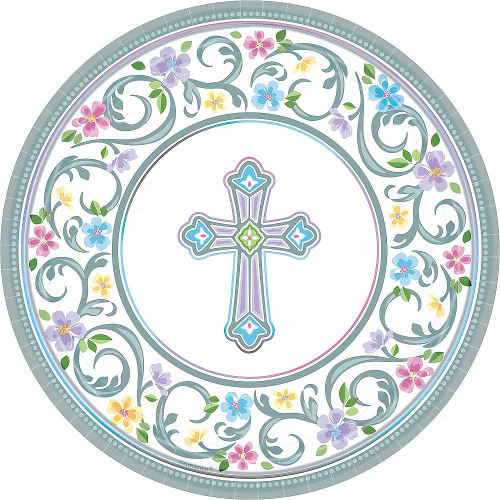 Blessed Day Religious Dinner Plates 18ct Image #1