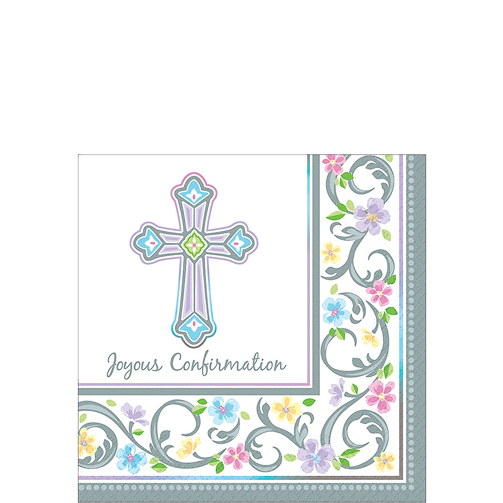 Blessed Day Confirmation Beverage Napkins 36ct Image #1
