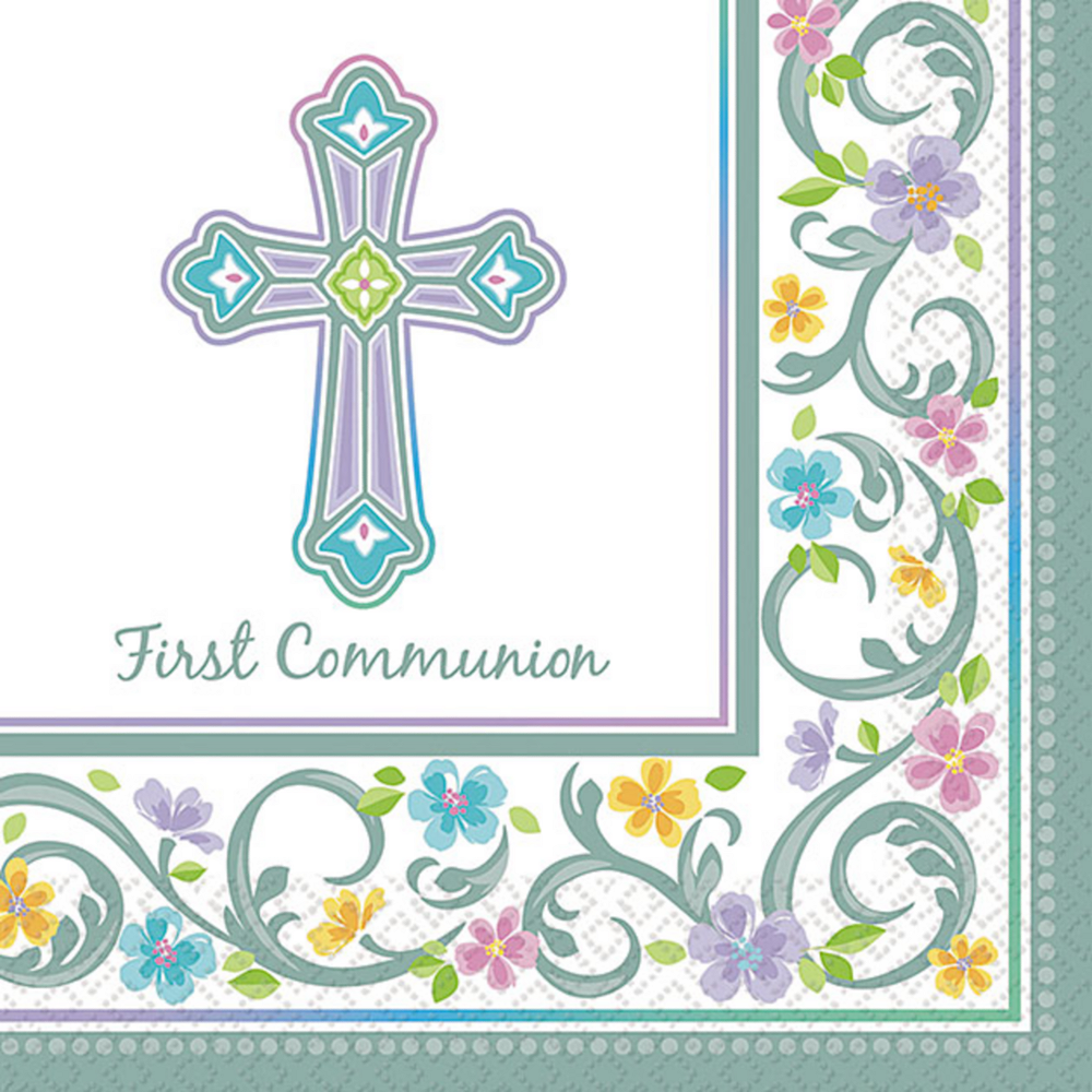 Blessed Day Communion Beverage Napkins 36ct Image #1