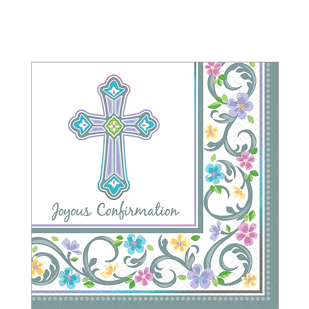 Blessed Day Confirmation Lunch Napkins 36ct Image #1