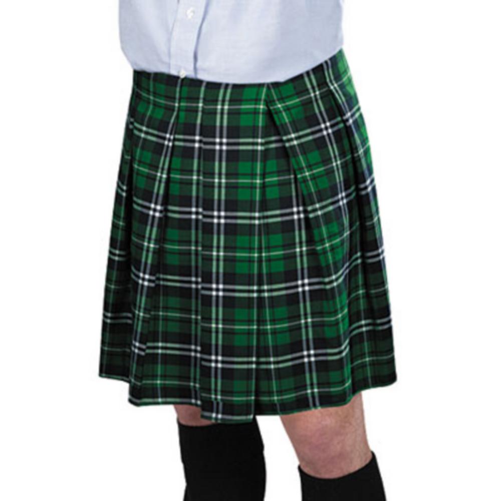 Adult Green Plaid Kilt Image #1