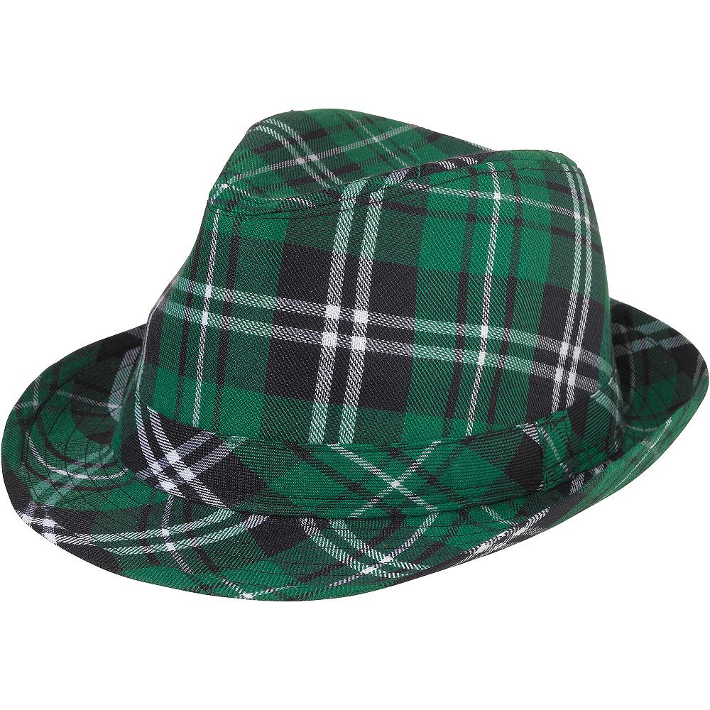 St. Patrick's Day Plaid Fedora Image #1