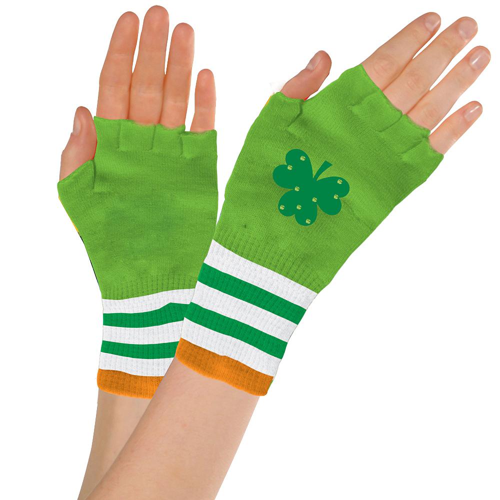 St. Patrick's Day Fingerless Glovelettes Image #1