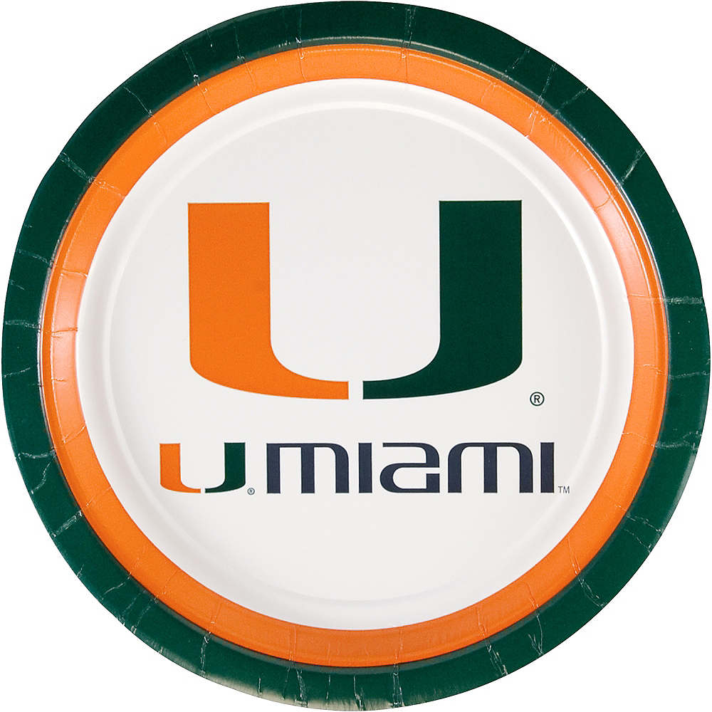 Miami Hurricanes Lunch Plates 10ct Image #1