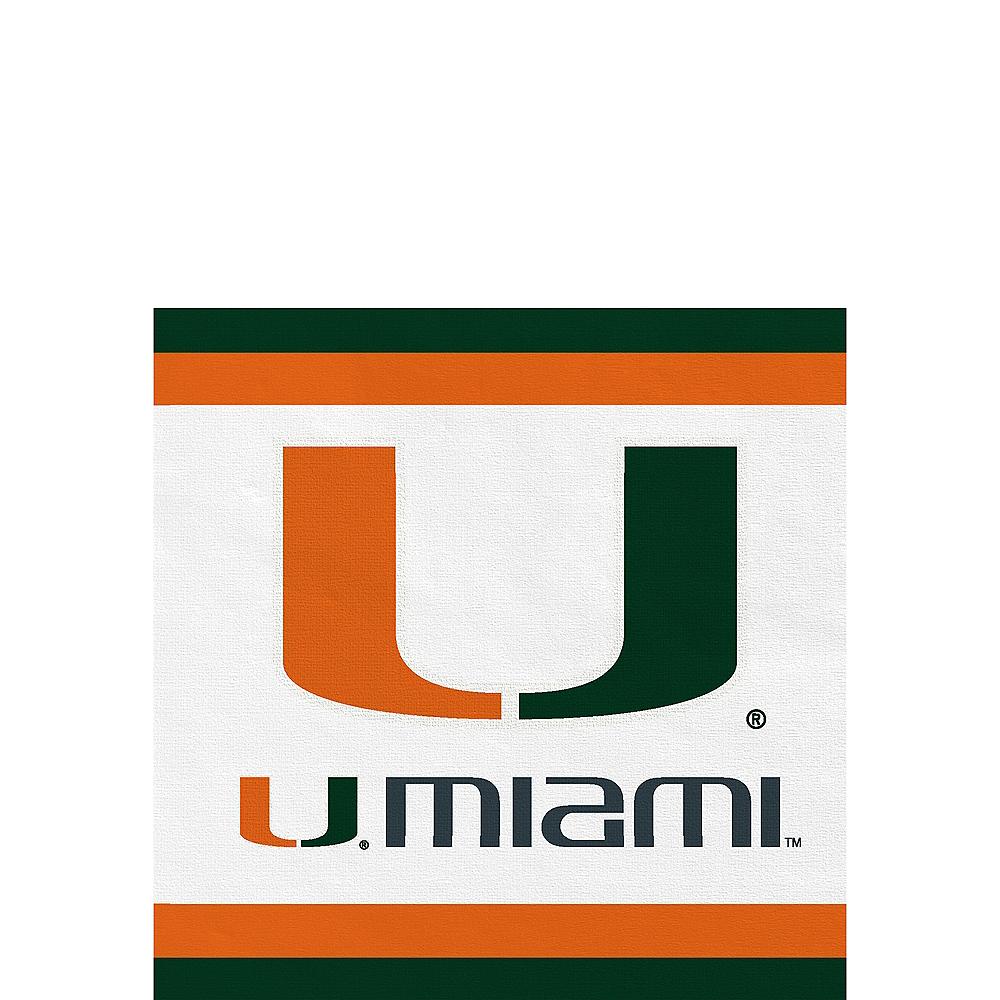 Miami Hurricanes Beverage Napkins 24ct Image #1