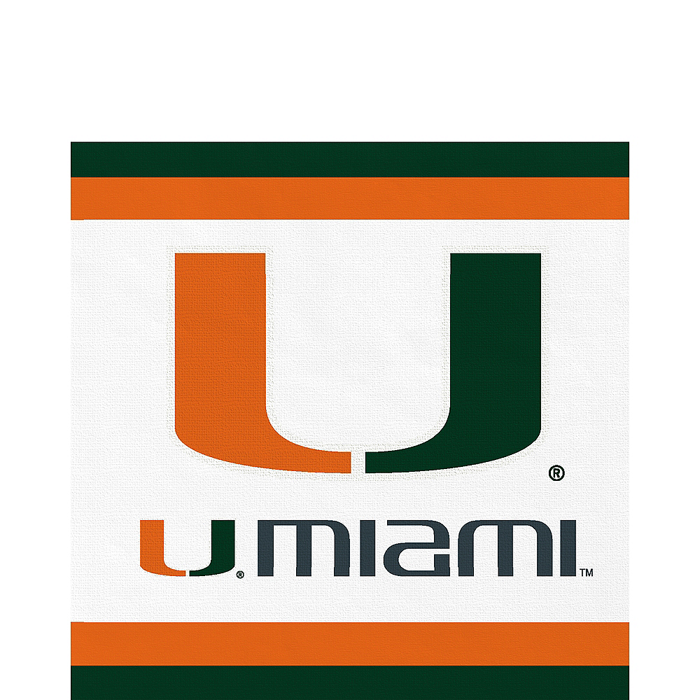 Miami Hurricanes Lunch Napkins 20ct Image #1