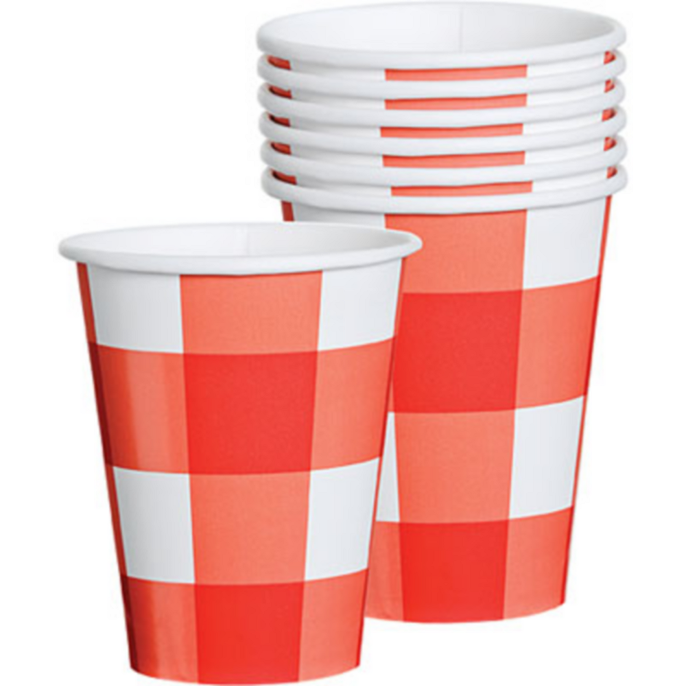 American Summer Red Gingham Cups 8ct Image #1