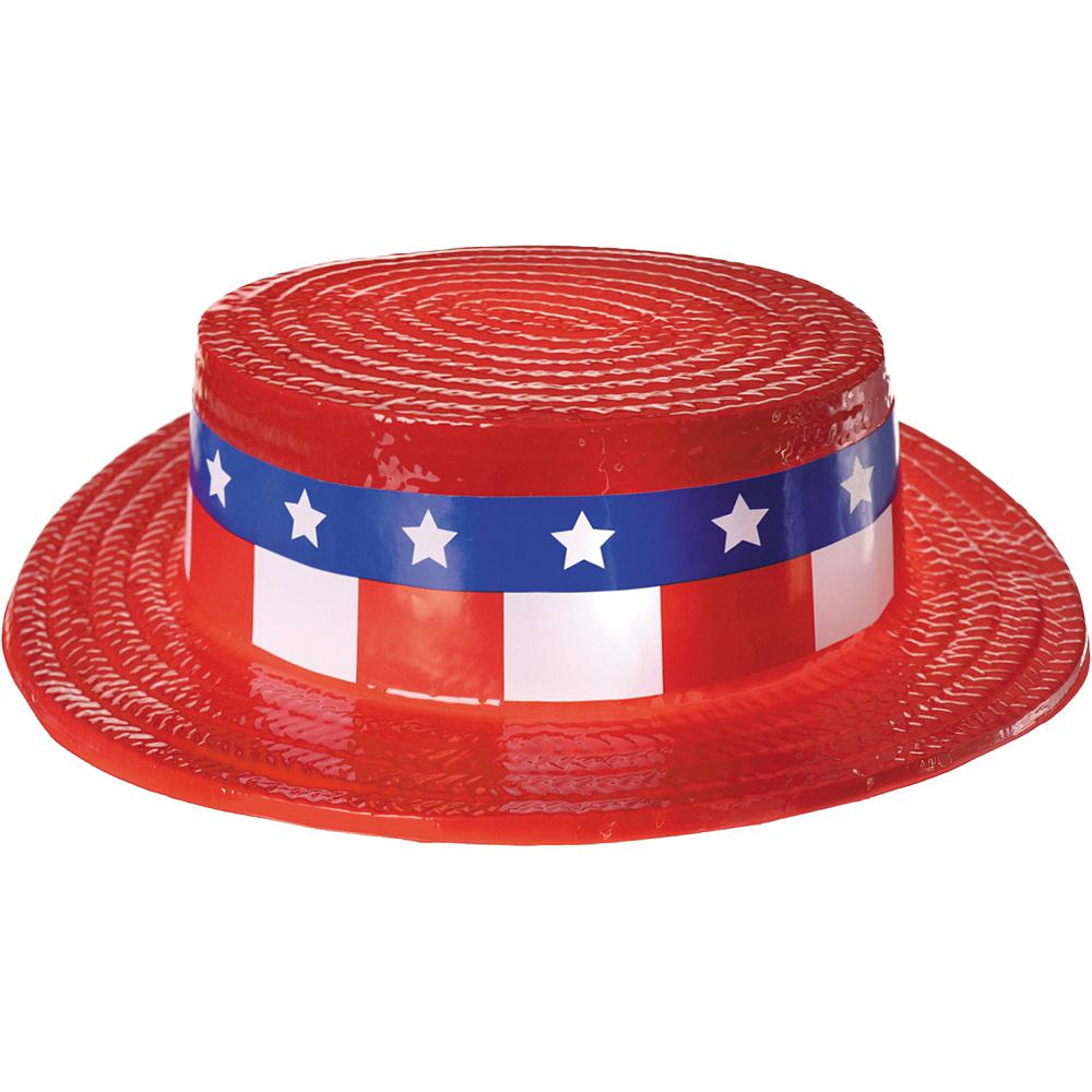 Patriotic Red, White & Blue Skimmer Hat Image #1