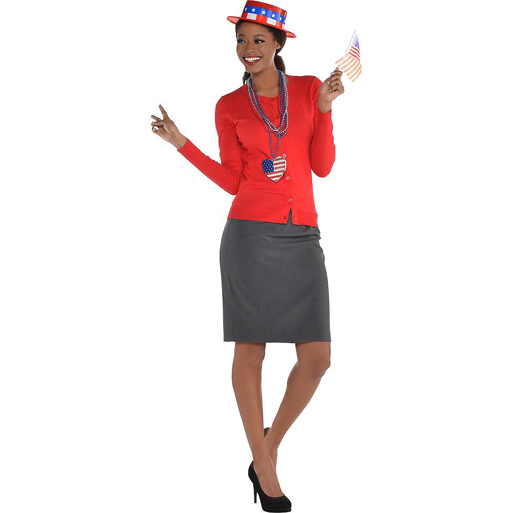 Patriotic Red, White & Blue Skimmer Hat Image #2