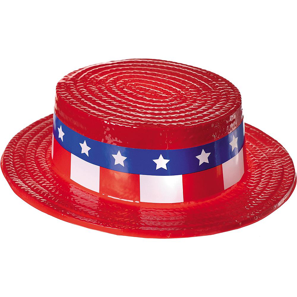 Patriotic Red, White & Blue Skimmer Hat Image #3