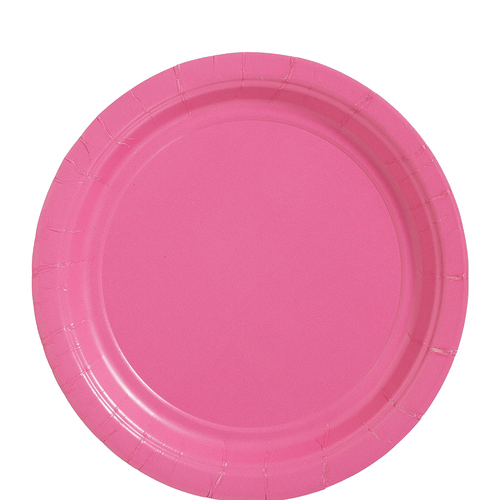Nav Item for Big Party Pack Bright Pink Paper Lunch Plates 50ct Image #1