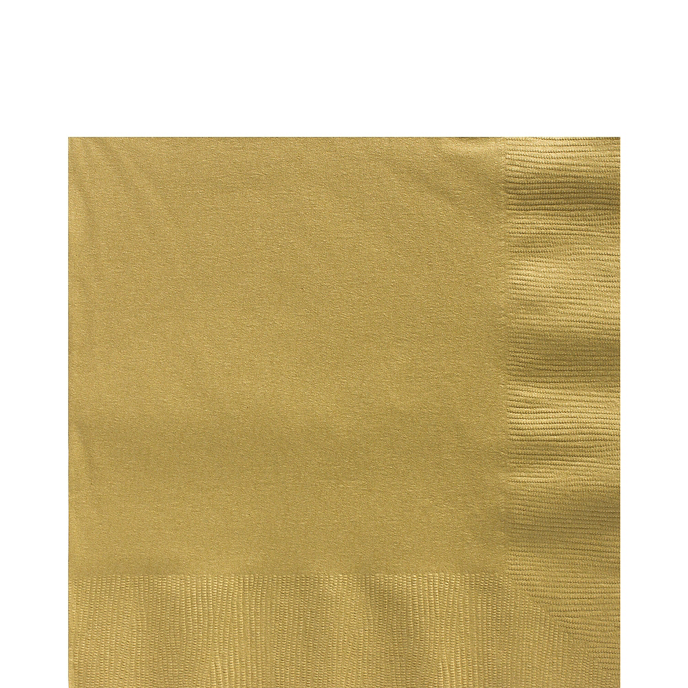 Big Party Pack Gold Lunch Napkins 125ct Image #1