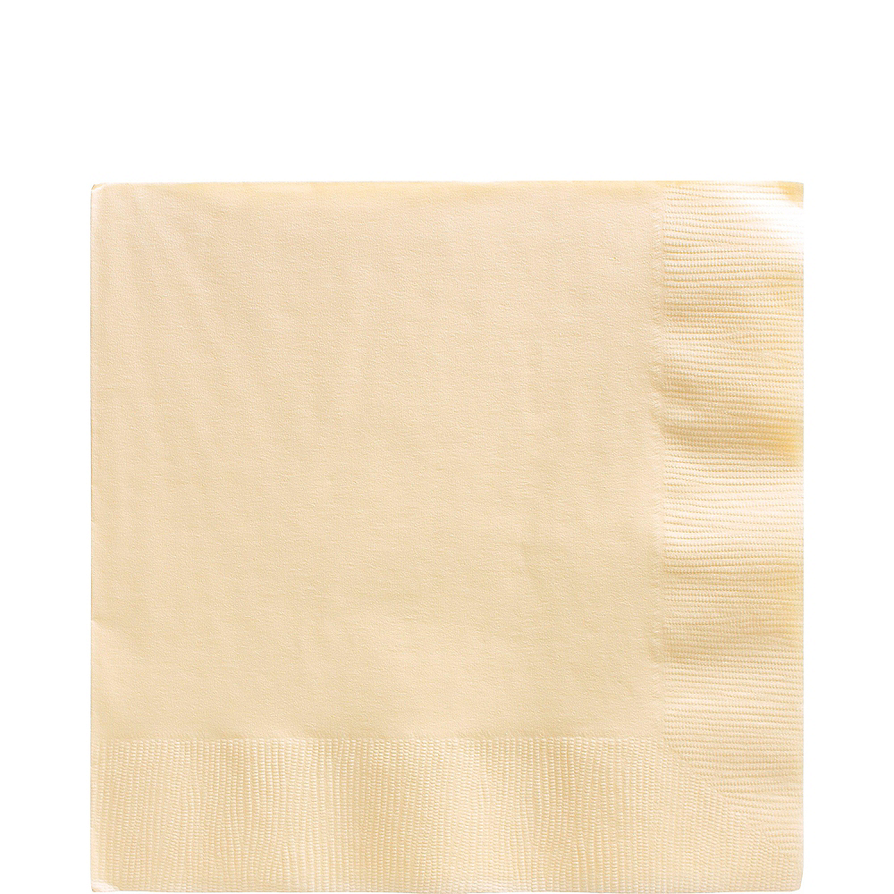 Big Party Pack Vanilla Cream Lunch Napkins 125ct Image #1