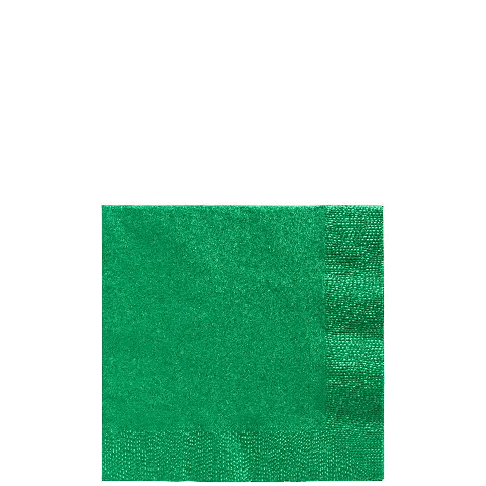 Festive Green Beverage Napkins 50ct Image #1