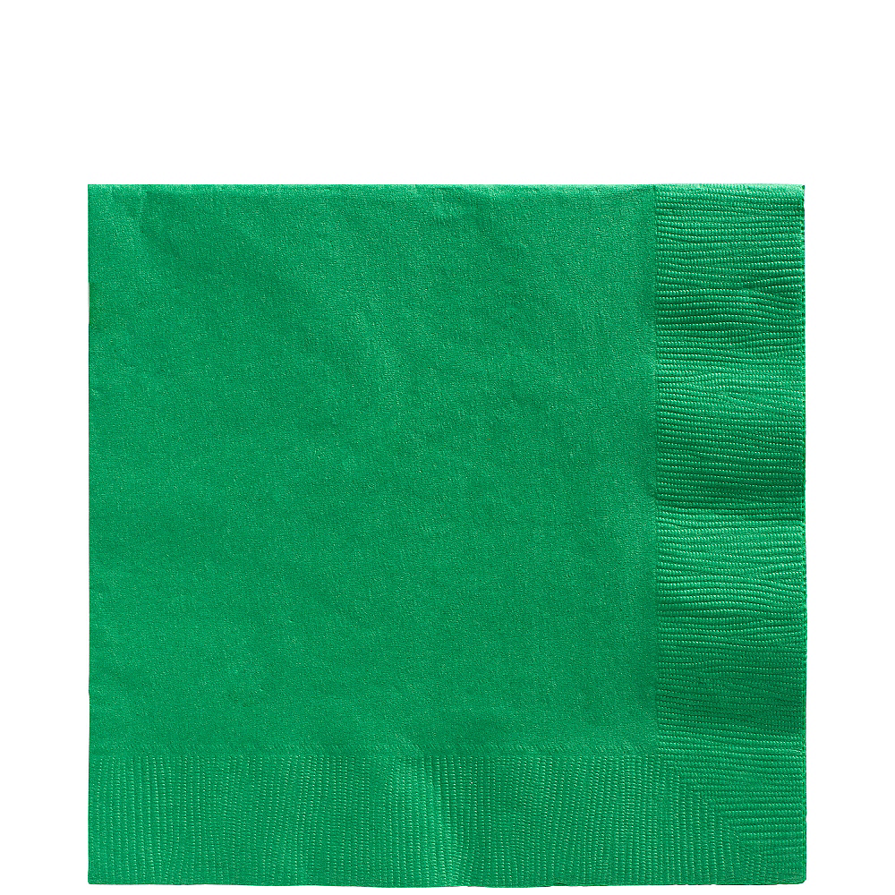 Festive Green Lunch Napkins 50ct Image #1